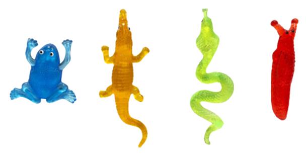 Лизун 1TOY Мелкие пакости 19 см змея, крокодил, жаба, слизень воксе, в ассортименте фото