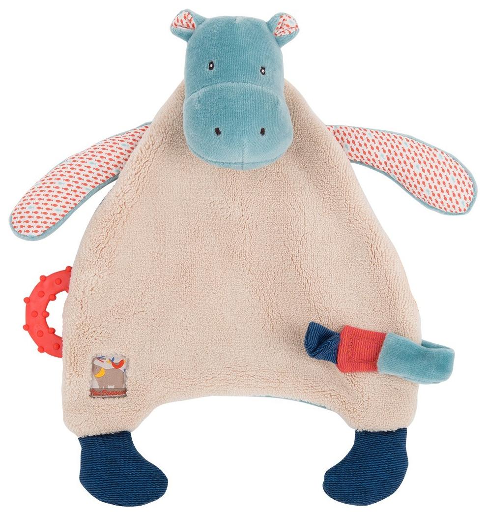 Купить Бегемотик комфортер 658015, Игрушка-комфортер Бегемотик Moulin Roty 658015, Комфортеры для новорожденных