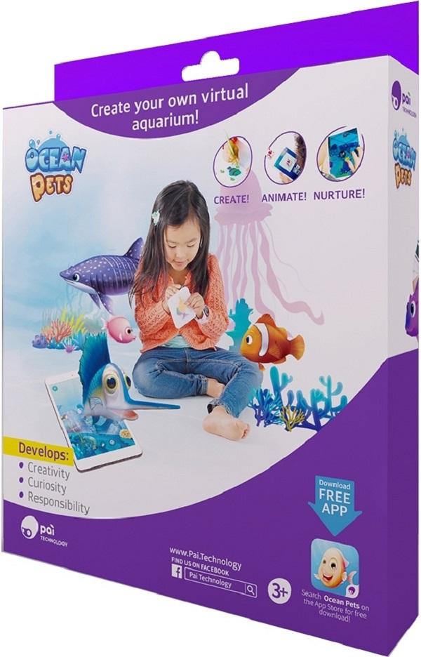Roobo Ocean Pets развивающая игра дополненной реальности с набором для лепки roobo®