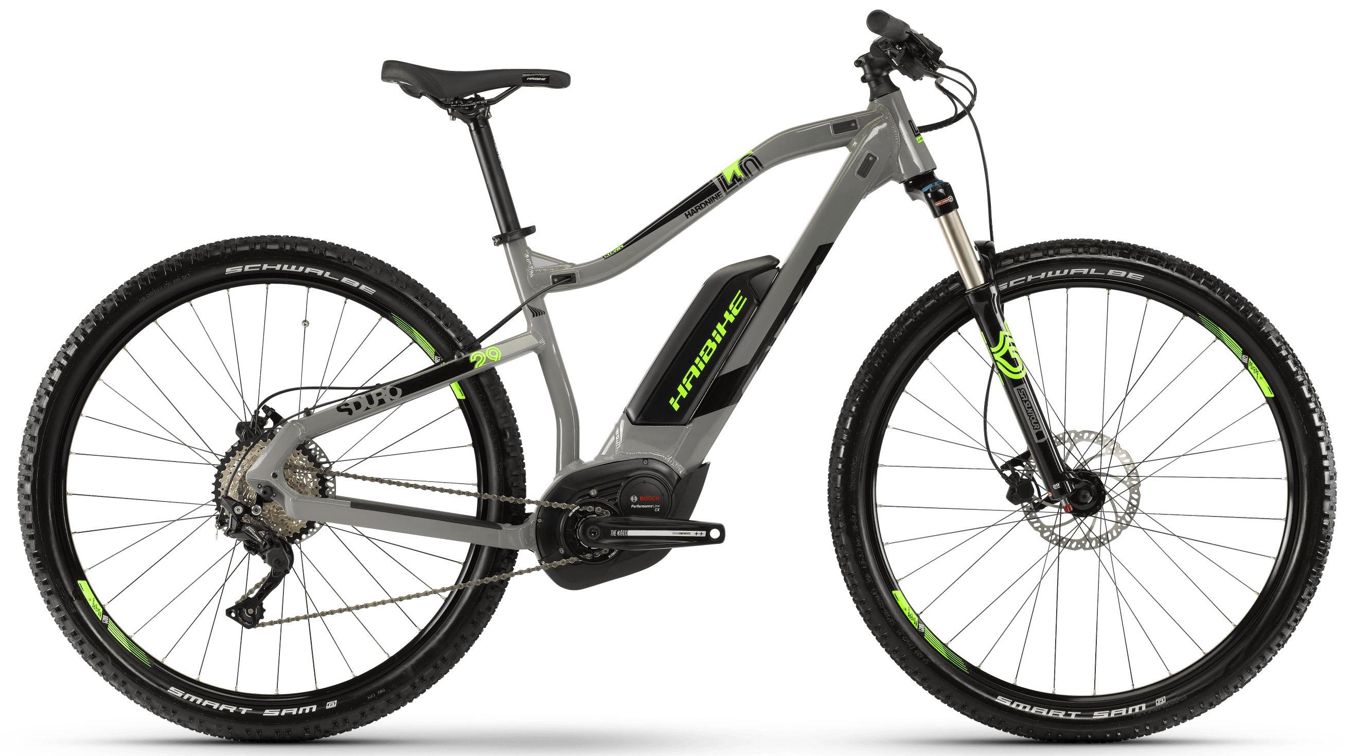 """Электровелосипед Haibike Sduro HardNine 4.0 500Wh 2019 18"""" серый"""