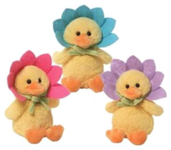 Игрушка мягкая Flower Duck Sound Toy 14 см в ассортименте.