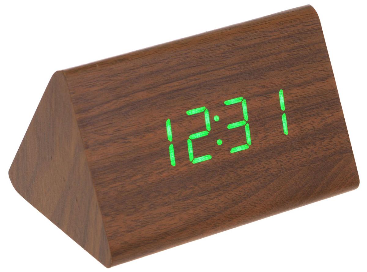 Электронные часы Perfeo Trigonal Brown
