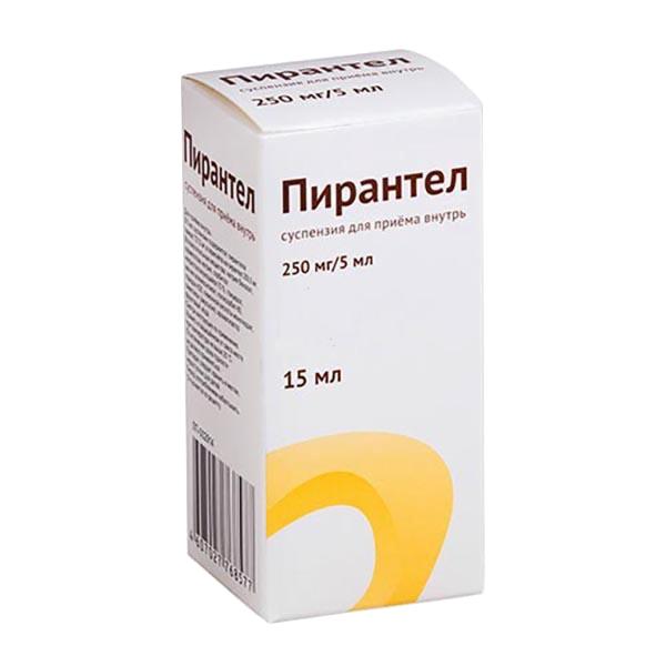 Пирантел суспензия 250 мг/5 мл 15 мл Озон ООО