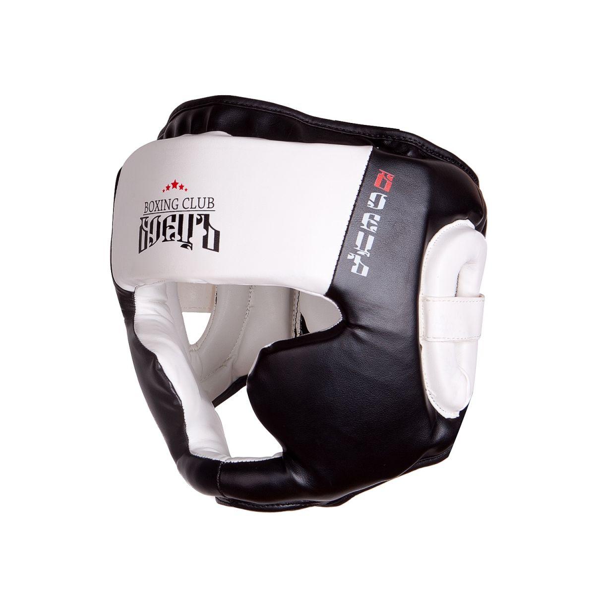 Шлем боксерский BHG 23 Чёрный/Белый, размер S