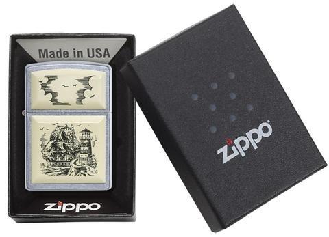 Зажигалка Zippo Classic 29397 Satin Chrome