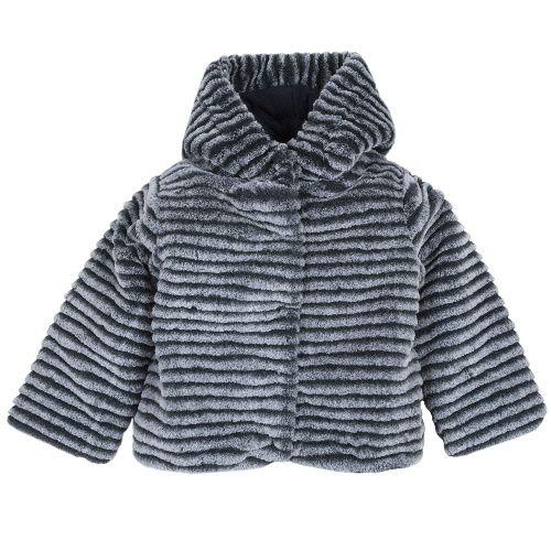 Купить 9096988, Куртка Chicco для девочек р.110 цв.темно-синий, Куртки для девочек