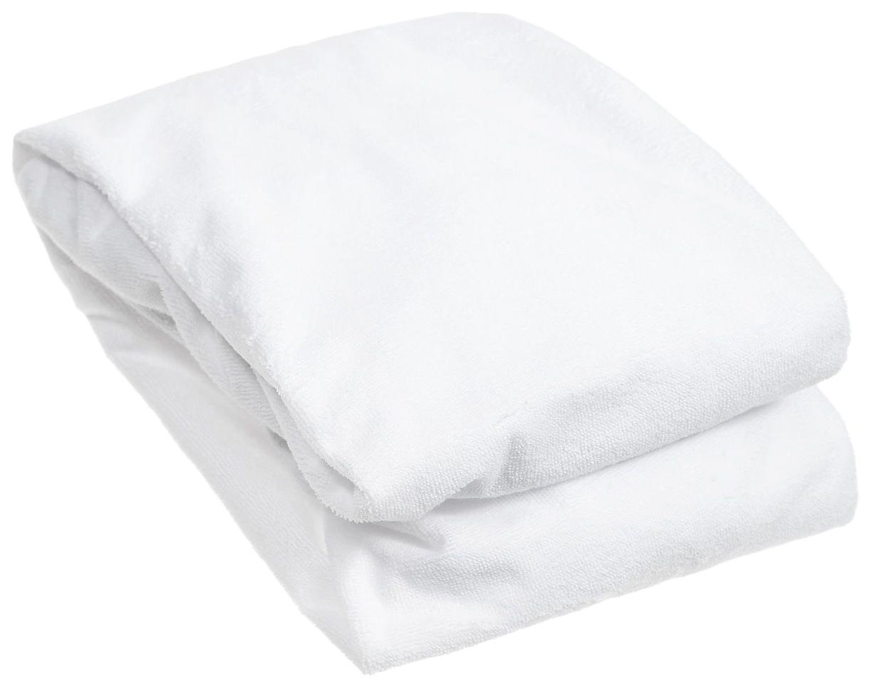 Наматрасник для круглой кроватки Baby Nice, белый