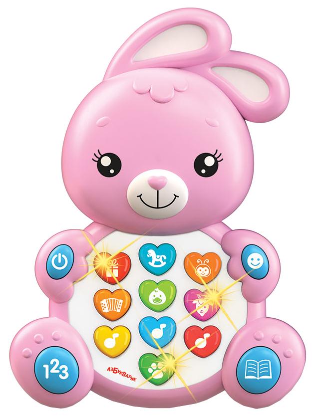 Интерактивная игрушка Азбукварик Зверята С Огоньками Зайка