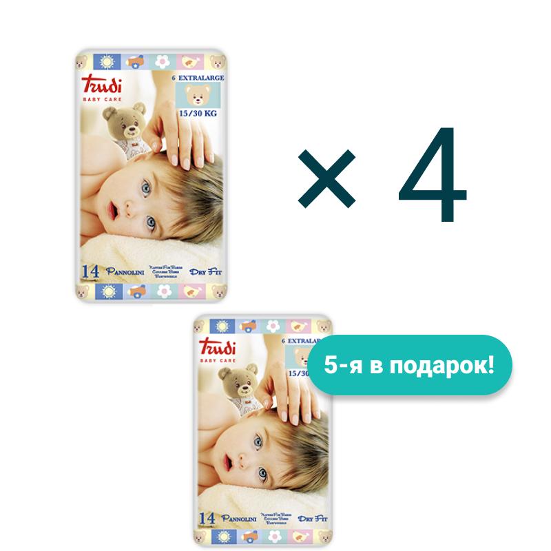 Подгузники детские Trudi ХL 15-30 кг 4+1