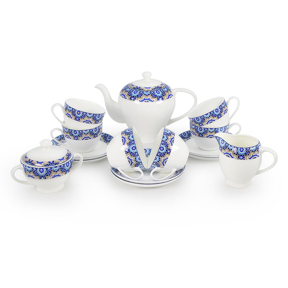 Чайный сервиз АККУ Андреа 15 предметов на 6 персон костяной фарфор