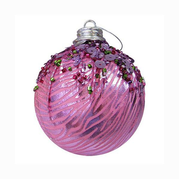 Набор новогодних шаров с бусинами, арт. Е94711