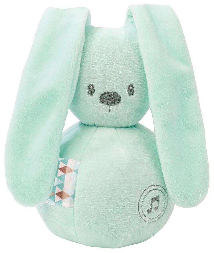 Купить Игрушка мягкая Nattou Musical Soft toy Lapidou Кролик mint,