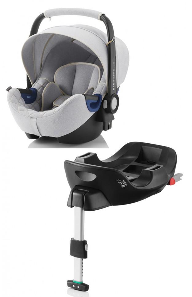 Автокресло Britax Roemer Baby-Safe i-Size Nordic Grey + база FLEX группа 0+, до 13 кг