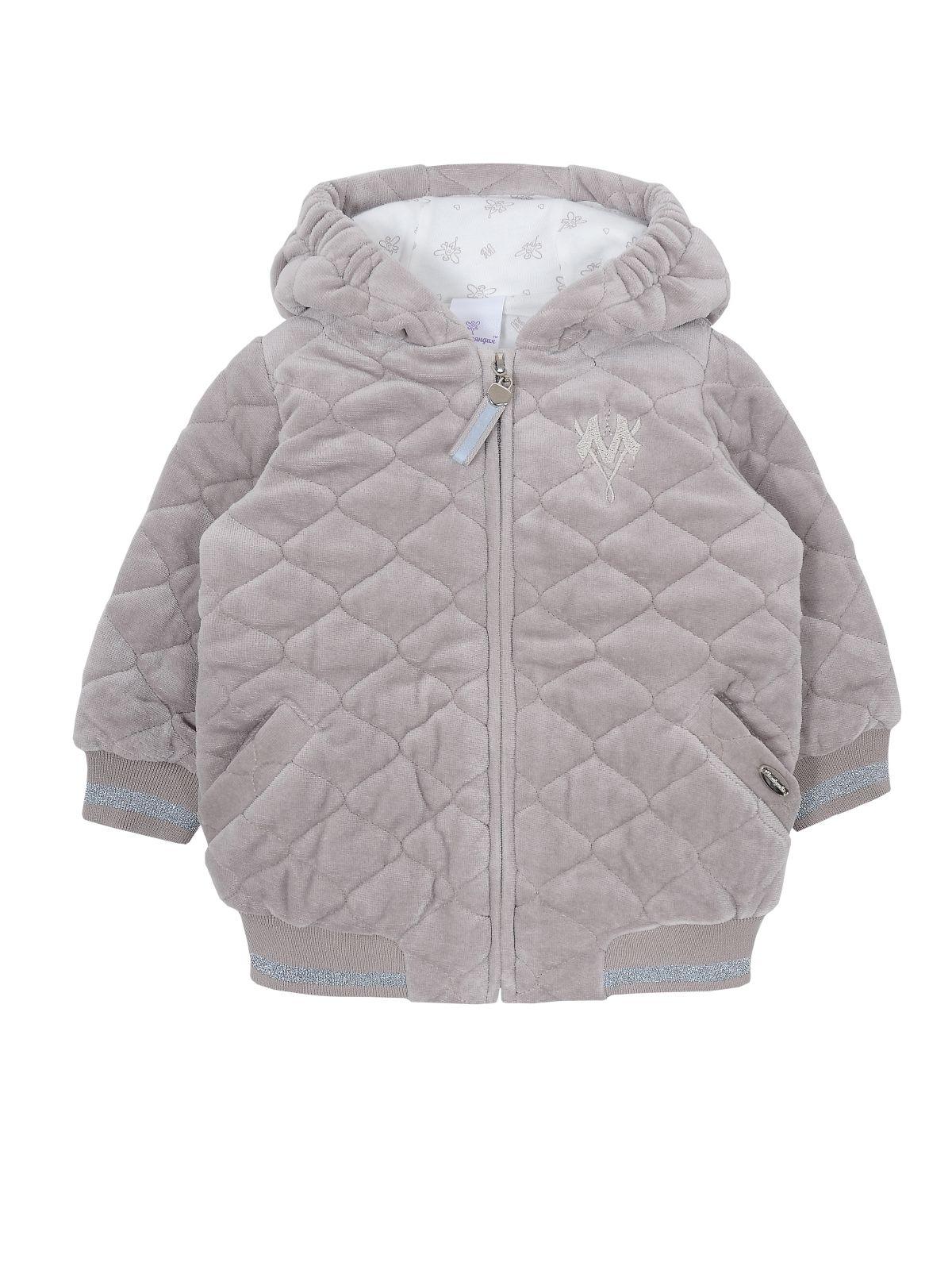 Куртка детская Мамуляндия 19-506, Велюр, Св серый р. 80