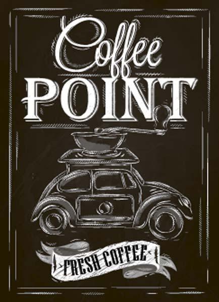 Картина на мдф 30x40 Coffee point Ekoramka ME-105-158