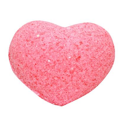 Бурлящее сердечко для ванн розовое (с маслами)