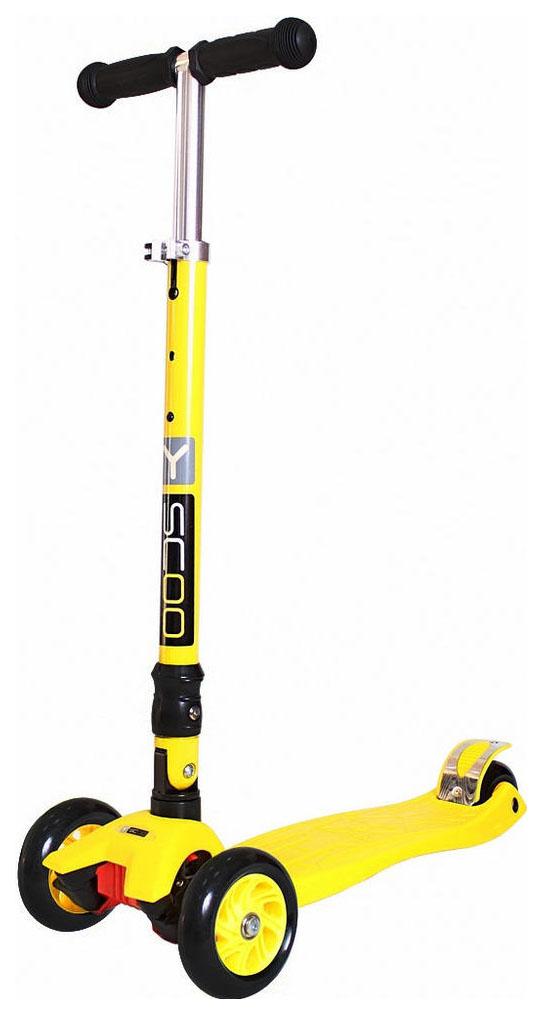 Купить Самокат трехколесный Y-Scoo 35 Maxi Fix Simple Yellow, Самокаты детские трехколесные