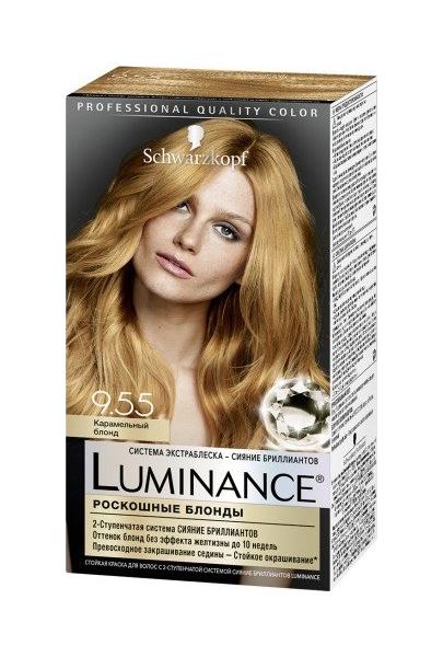 Краска для волос Schwarzkopf Luminance Color тон 9,55 Карамельный блонд 165 мл
