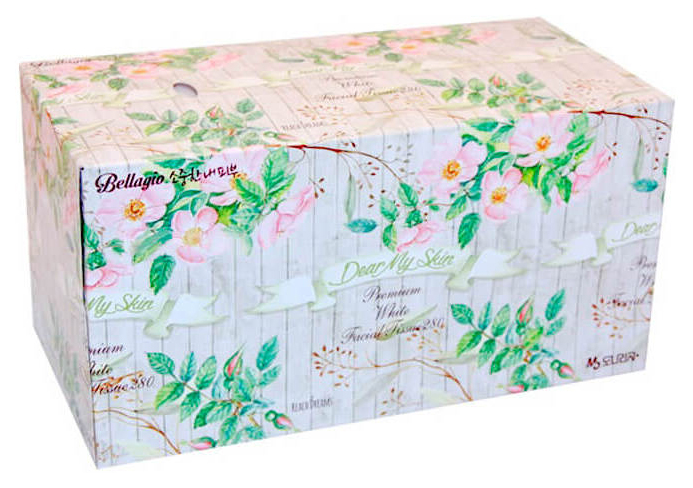 Бумажные платки Monalisa Bellagio Flower Garden Facial Tissue 280 шт