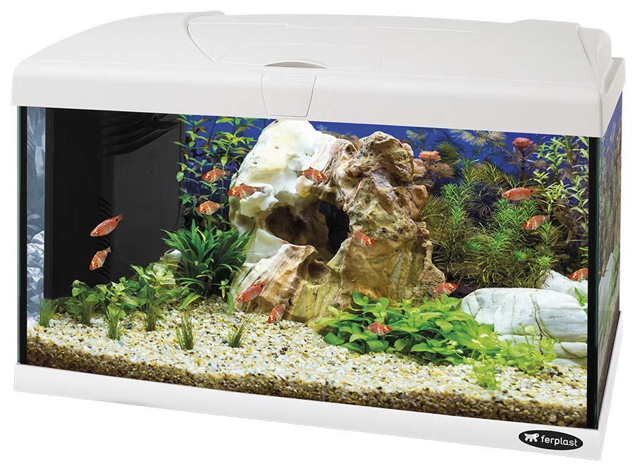 Аквариум для рыб Ferplast Capri Led, белый,