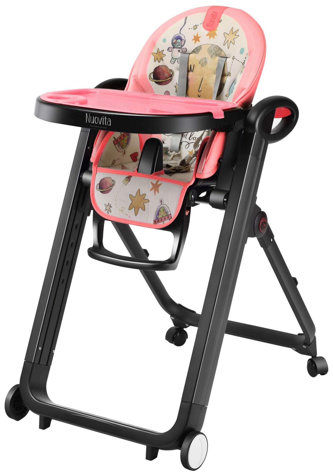 Купить Стульчик для кормления Nuovita Futuro Senso Nero Cosmo rosa/Розовый космос, Стульчики для кормления