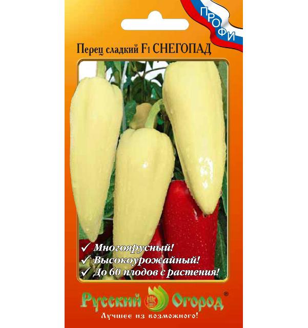 Семена овощей Русский огород 140796 Перец сладкий Снегопад F1 12 шт. фото