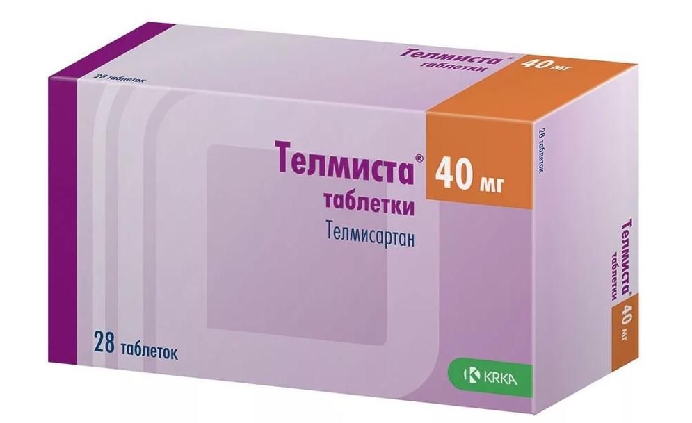 Купить Телмиста таблетки 40 мг 28 шт., KRKA