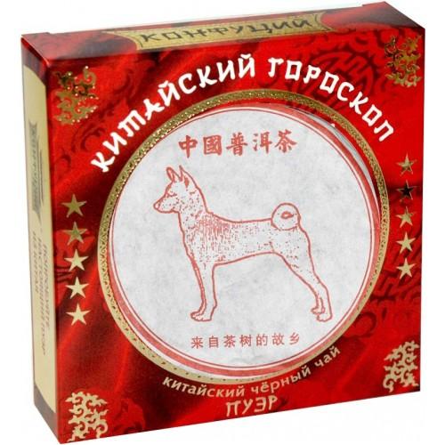 Чай черный прессованный Конфуций pu-er китайский гороскоп 100 г