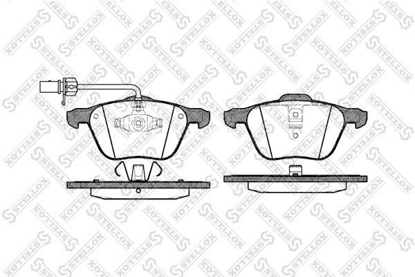 Комплект тормозных дисковых колодок Stellox 847 002B