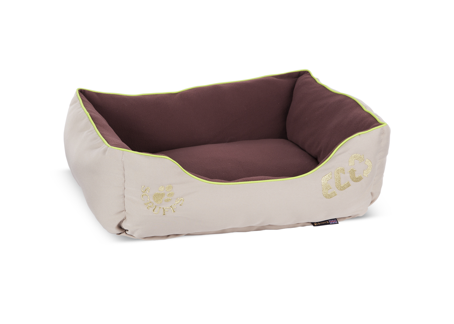 Лежанка для собаки Scruffs флис 60x75x15см коричневый