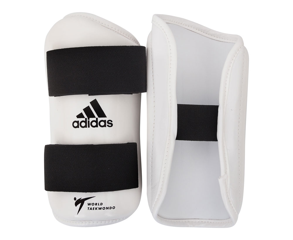 Защита предплечья для тхэквондо Adidas WT Forearm Protector белая L