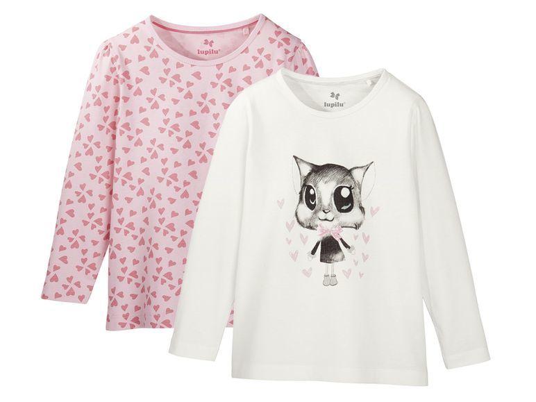 Купить Комплект джемперов для девочки 2 шт. Lupilu белый, розовый р.110-116, Детские джемперы, кардиганы, свитшоты