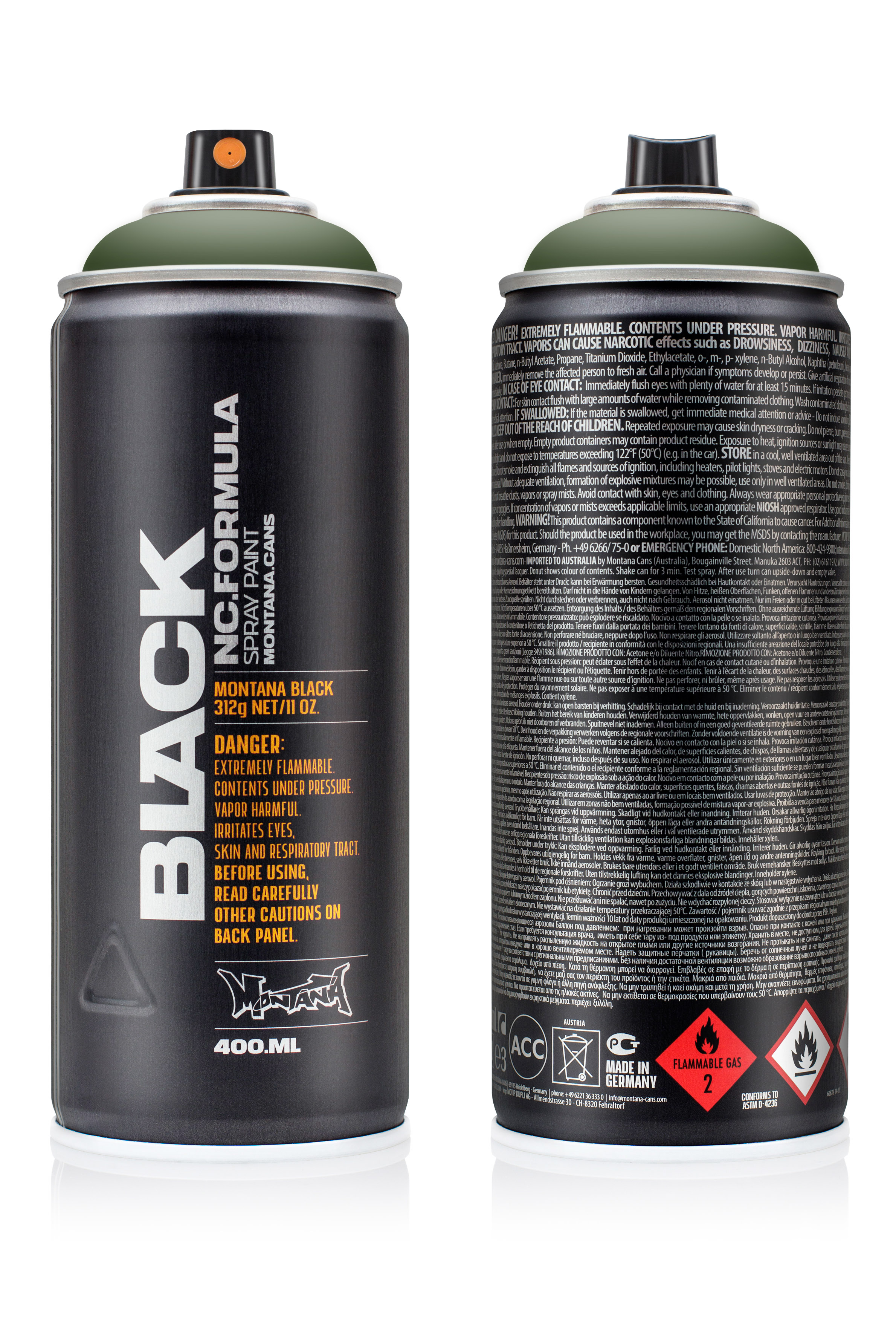 Аэрозольная краска Montana Black Toad 400 мл