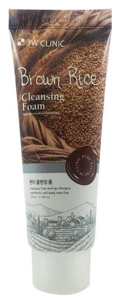 Пенка для умывания 3W Clinic Brown Rice Foam Cleansing 100 мл