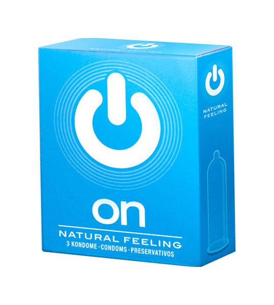 Презервативы ON Natural feeling классические 3 шт.