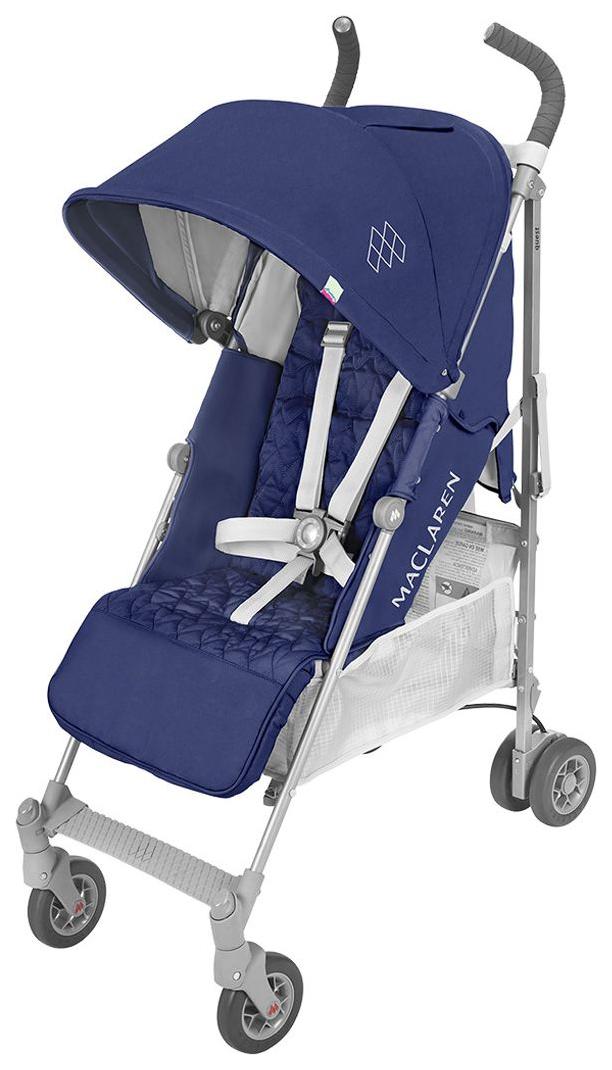 Купить Коляска прогулочная Maclaren Quest Blue Silver, Прогулочные коляски