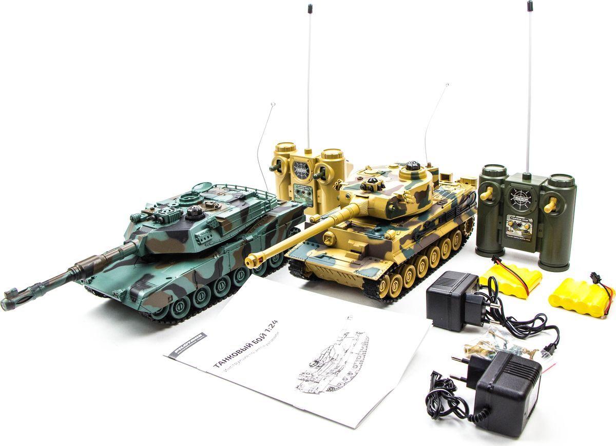 Радиоуправляемый танк Pilotage Tiger vs M1A2 1:24 (RC18387)
