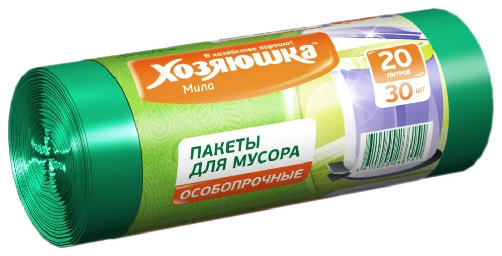 Пакеты для мусора Хозяюшка Мила особопрочные в рулоне 20 л 30 шт