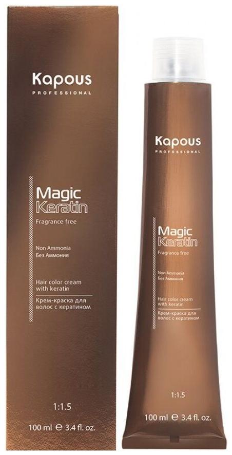 Краска для волос Kapous Professional NA 7.8 блондин карамель с кератином 100 мл