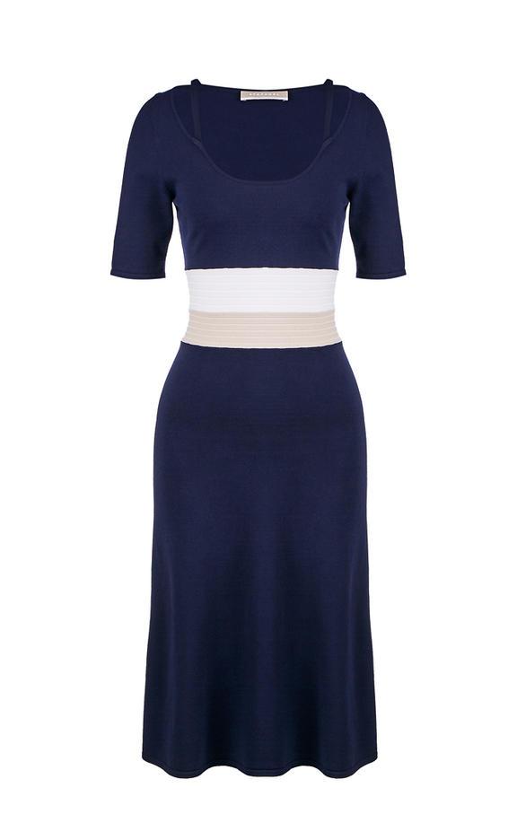 Платье женское Stefanel синее 40 фото