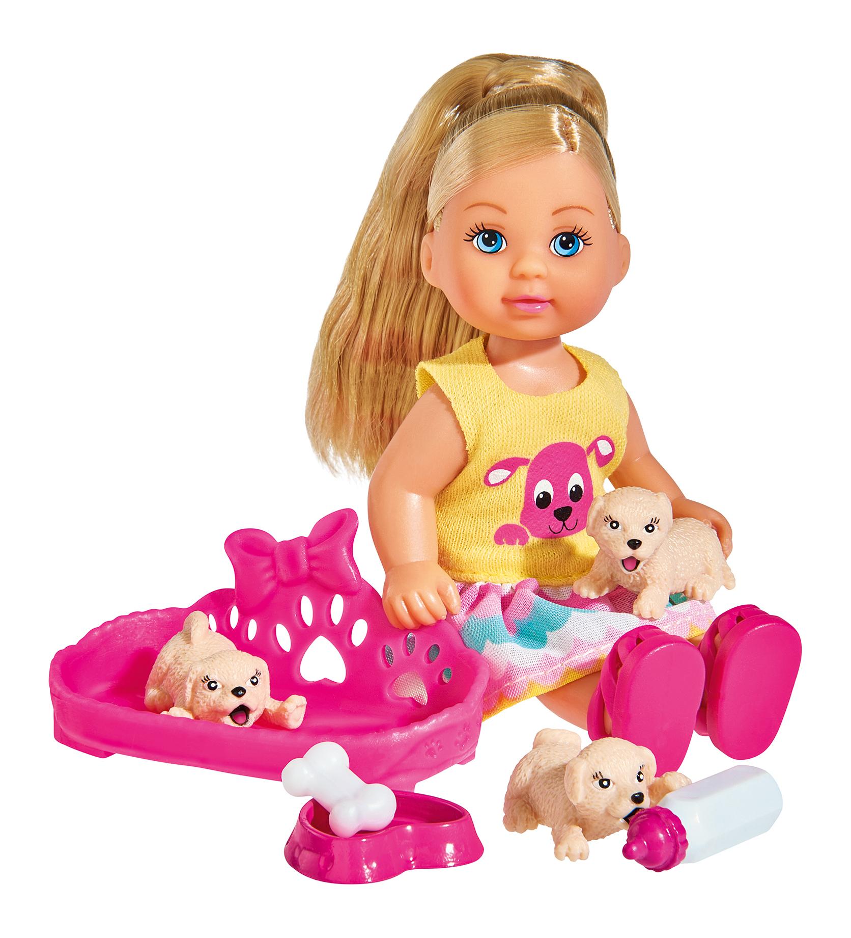 Кукла Simba Кукла Еви с собачками, 12 см