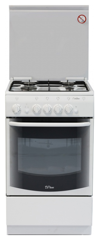 Газовая плита DeLuxe 5040.44г White фото