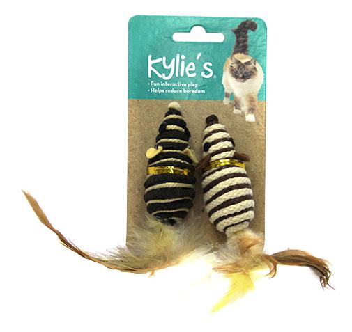 Интерактивная игрушка для кошек Chomper, Сизаль, с пером natural по цене 193