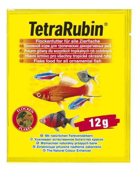 Корм для рыб Tetra Rubin, для улучшения окраса, хлопья, 12 г фото