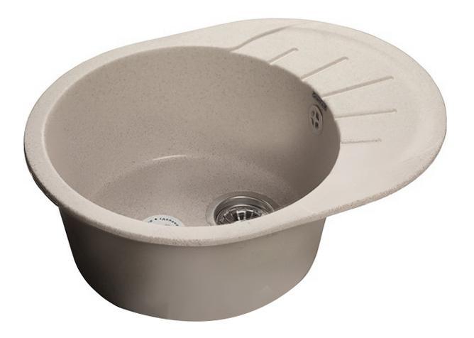 Мойка для кухни из мрамора GranFest Rondo GF-R580L серый