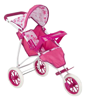 Коляска Прогулочная для кукол, 65883T, Розовый Игруша прогулочная розовая