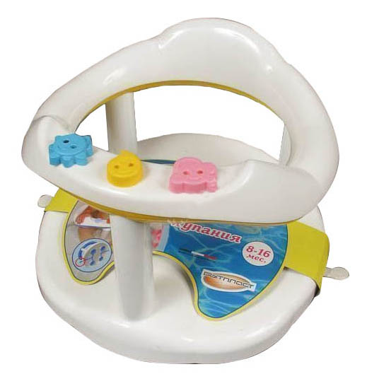 Сиденье для купания малыша Бытпласт Сиденье Для Купания Детей , Цвет Желтый 795*405*320