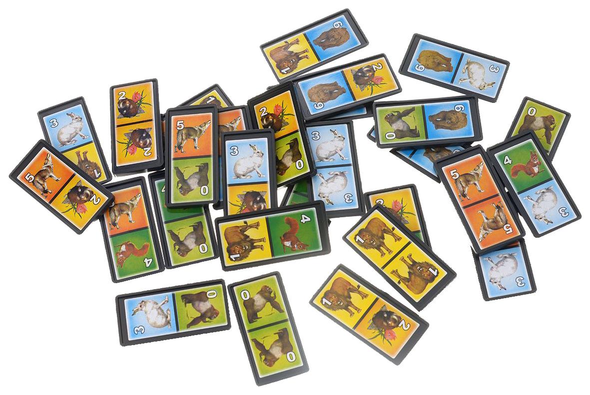 Семейная настольная игра Stellar Животные №2 Домино