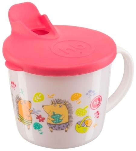Купить Тренировочная кружка с крышкой Happy Baby Training Cup Red, 15010, Поильники
