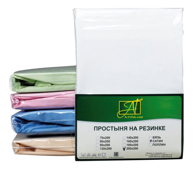 Простыня АльВиТек 150х214 см белый
